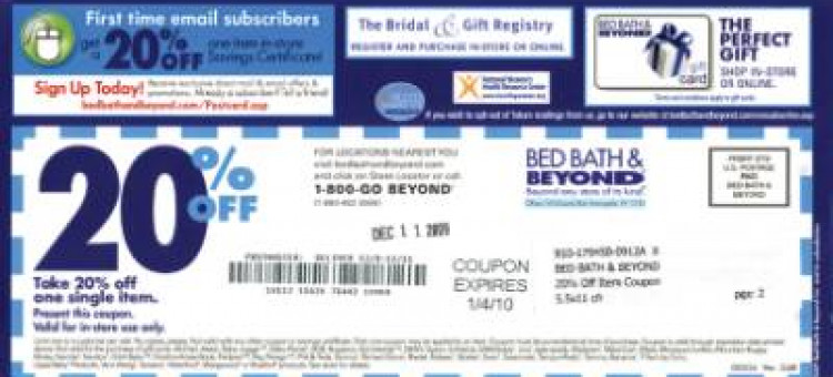Bed Bath Beyond Eliminating Coupons