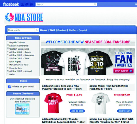 The NBA's Facebook store in 2011