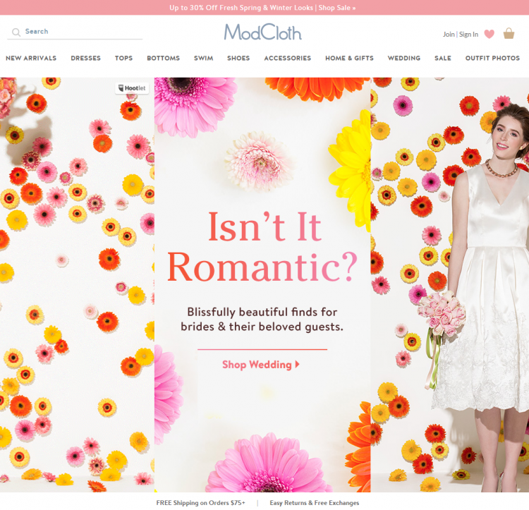 Modcloth Returns Banner