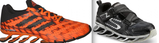Compare the Adidas Springblade (left) with the Skechers Mega Blade (right).