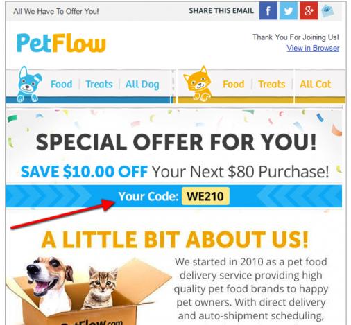 petflow onboarding email
