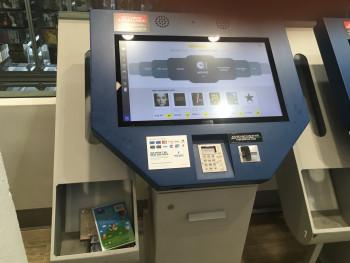 Kiosk at Best Buy store in New York City.