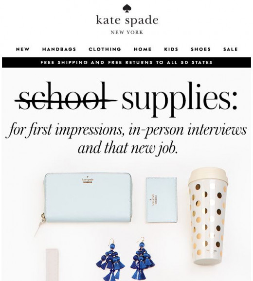 Kate Spade email