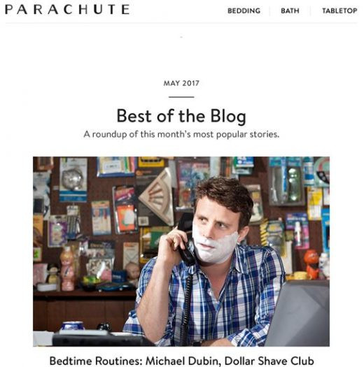 Parachute email