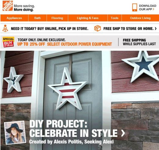 Home Depot email