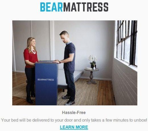 Bear Mattress email