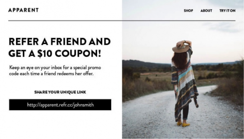 """Refer a Friend"" promotion"