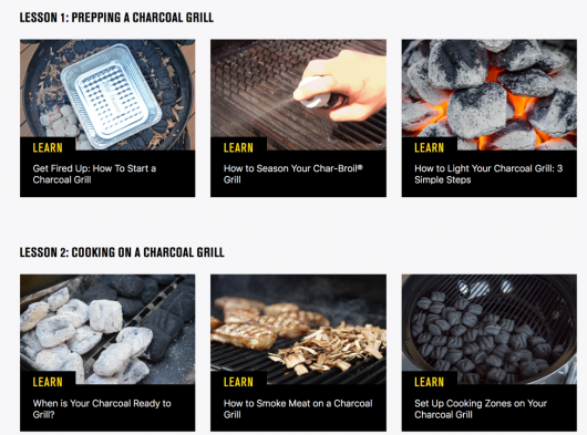 Char-Broil how to prep a charcoal grill infographic