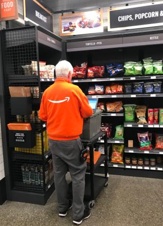 Amazon employee in Amazon Go store