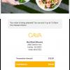 Cava email screenshot