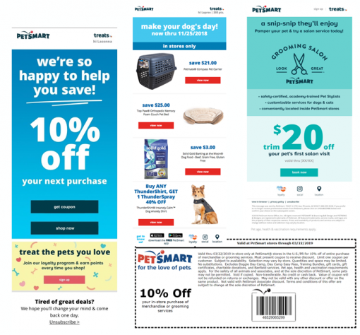 PetSmart email marketing campaigns