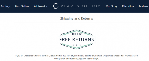 Some Customers value returns almost as much as free shipping. Hence, you risk losing sales if you're not offering free returns.