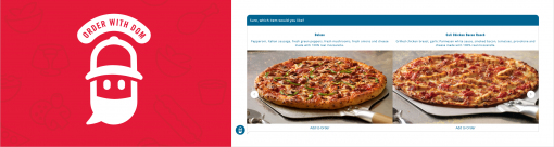 Dominos Pizza's Order with Dom chatbot