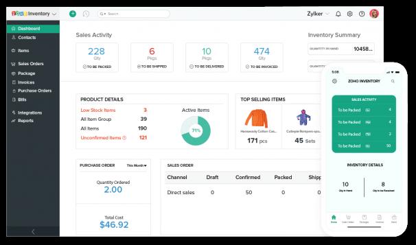 Zoho Inventory app