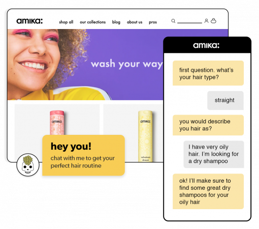 How a chatbot helped amika accelerate its shift to eCommerce