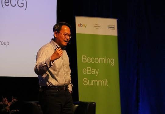 Ming Lu speaking at the Becoming eBay Summit. Image courtesy of Ming Lu.