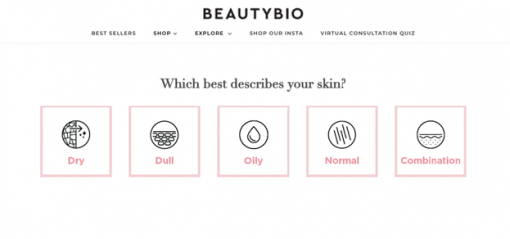 A great example is BeautyBio's virtual consultation experience.