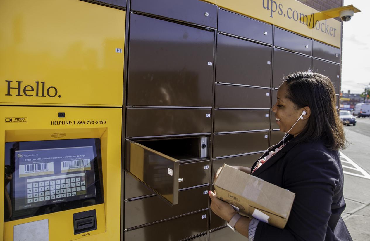 Ups Says Pickup Lockers Help Merchants Boost Sales